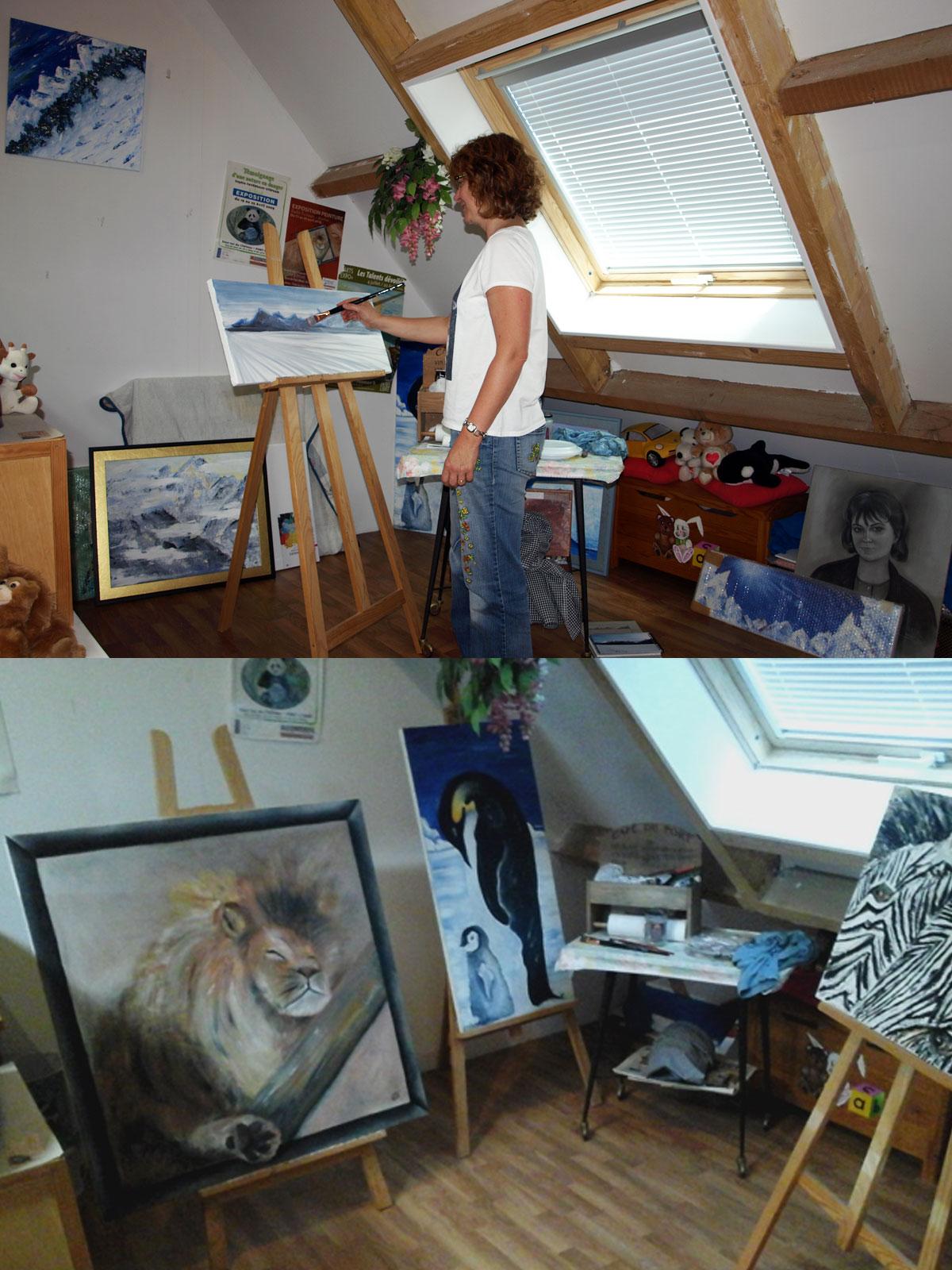L'atelier de peinture de Sophie Stéphan